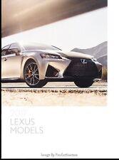 2017 Lexus 20-page Sales Brochure Catalog - GSF RCF LC RC LS LX NX GX GS ES IS