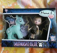Fakie KO MLP Monster High Doll Vampire Pony Set NIB Glow in Dark Mona Blue Toys