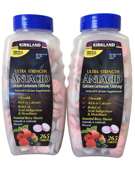 kirkland signature ultra strength antacid calcium carbonate 1000mg