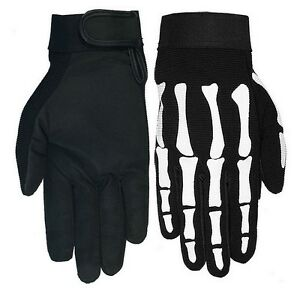 Gants-ete-squelette-moto-custom-guantes-skull-gloves-Handschuhe