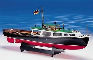Intricate-Elegant-Model-Ship-Kit-by-Krick-the-034-Felix-034-Hamburg-Harbor-Launch