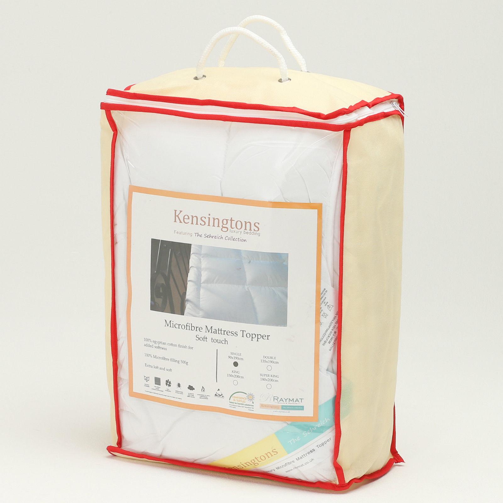 Luxury Fine Microfibre Feels Like Down Box Pillow Egyptian