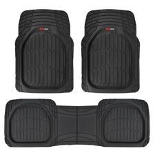 Flextough Shell Rubber Floor Mats Black Heavy Duty Deep Channels For Car 3pc Set Fits 2003 Honda Pilot