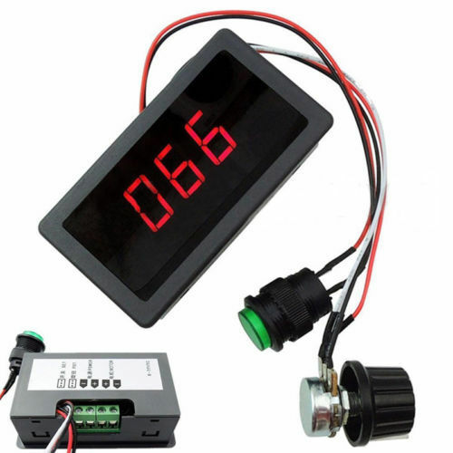 DC 6-30V 12V 24V MAX 8A Motor PWM Speed Controller With Digital Display Switch P