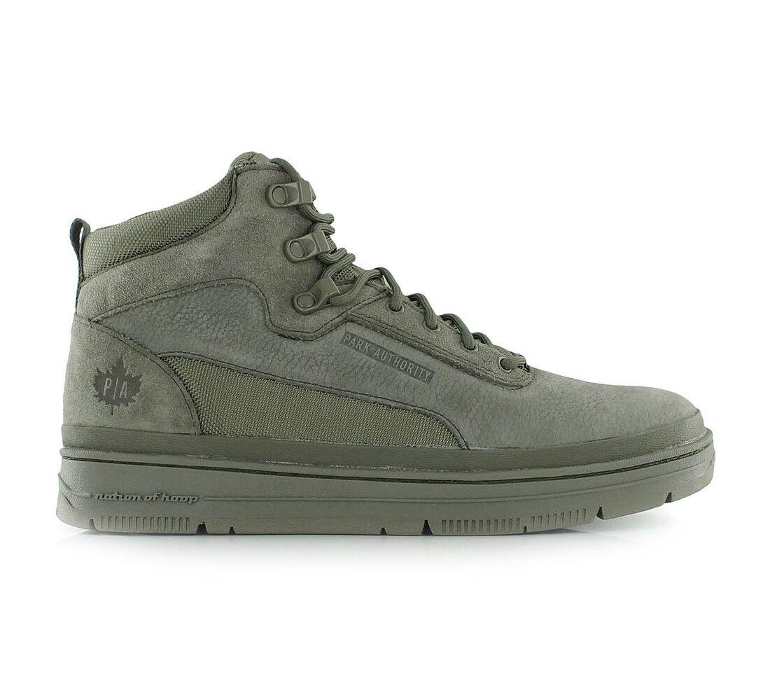 K1X Schuhe High-Top Sneaker GK 3000 Leder Suede 3302 Grün Herren Neu div. Größen