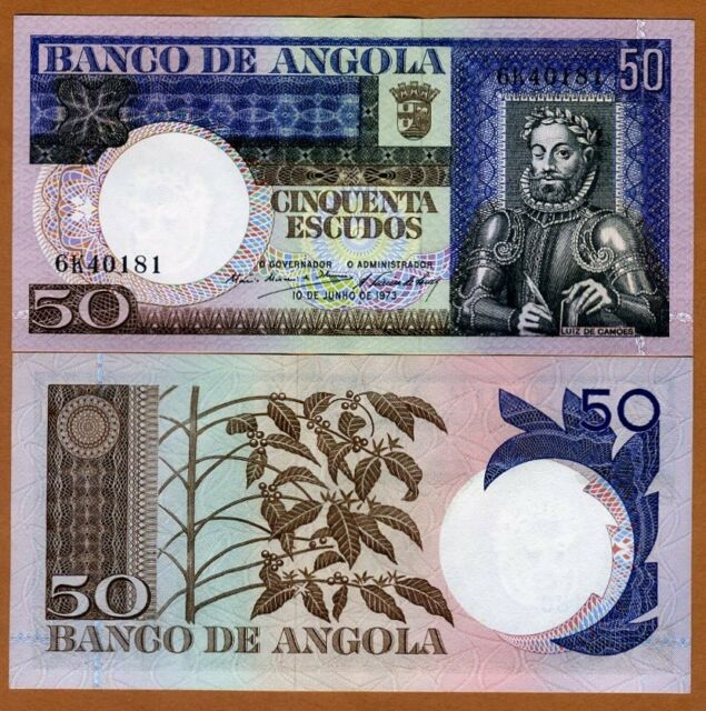 UNC 50 Escudos Pick 105 1973 Angola