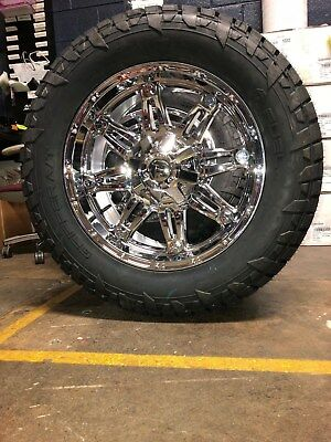 """Fuel Rims And Tires >> 20"""" D530 Fuel Hostage Chrome Wheels 33"""" AT Tires Package 5x5.5 Dodge RAM 1500 