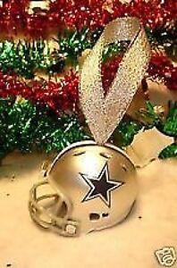 image is loading dallas cowboys christmas bell nfl football helmet ornament