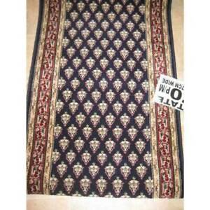 Hallway-Runner-Carpet-Rug-Blue-Wool-67cm-Wide-Estate-Mir-Per-Metre-Floor-Rugs