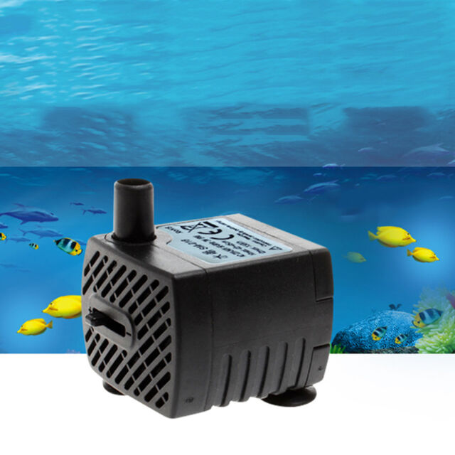 150LPH Mini Electric Submersible Pump Aqua Aquarium Water Fountain Pond Marine