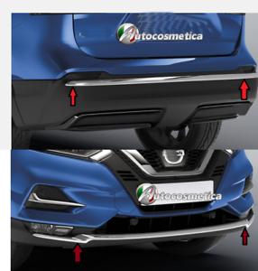 modanature-sotto-paraurti-Nissan-Qashqai-17-2019-anteriore-posteriore-abs-cromo