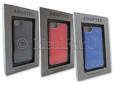 ADOPTED Leather Wrap Case for Apple iPhone 5 5S Coral Royal Pewter Cover RRP£40
