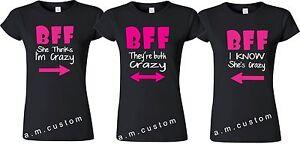 3d708f2ec4 Image is loading BFF-shirt-Best-Friend-Triple-Matching-Friends-shirts-