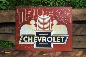 Chevy Trucks Tin Metal Sign 3100 Silverado Since 1918 Chevrolet Truck