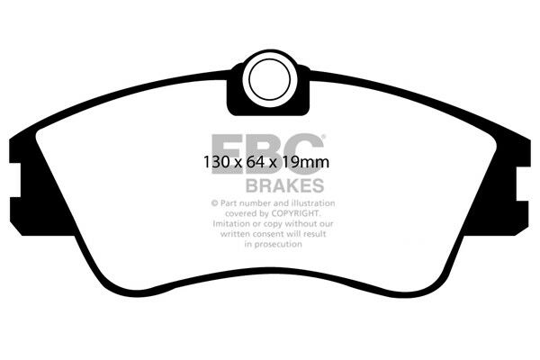 "EBC Ultimax Front Brake Pads for VW Transporter T4 1.9 TD (15"" Wheels) (93 > 95)"