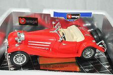 BURAGO MODELS 1936 MERCEDES BENZ 500K ROADSTER; RED, 1:18, NEW,Boys +7, Cars