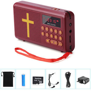 Details about Rechargeable Audio Player Radio Electronic Bible Talking King  Version - English