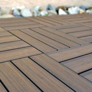 Deck Tiles Interlocking Outdoor Flooring Patio Wood Floor