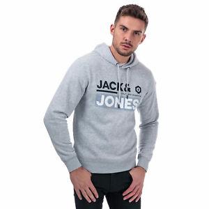 Mens Jack /& Jones Booster 9 Sweat Hoody In Black External Ribbed Cuffs And Hem