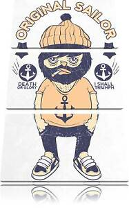 Original Sailor light 3-Teiler Leinwandbild Wanddeko Kunstdruck