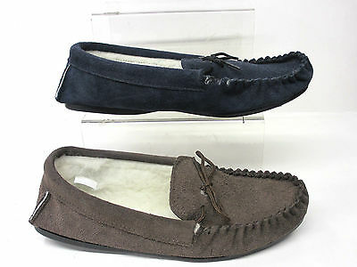 Independent Hombre Vamp Zapatillas Lana Forro Marrón & Azul Marino De Ante Keep You Fit All The Time Clothing, Shoes & Accessories
