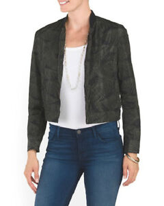 NWT $495 THEORY ARTELL Black Fatigue Palm Bomber Jacket Coat Medium Sold out!!!