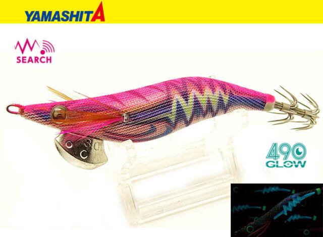 2019 Yamashita Egi Oh Live Search 490 Glow #2.5 Warm Jacket 10.5g Squid Jig