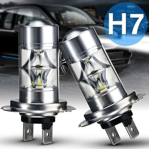 VW CADDY 2003-2006  2x H7 SUPER WHITE CREE LED SMD 30W CANBUS BULBS LIGHT 50