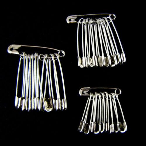 30-120Pcs Sicherheitsnadeln Silber sortiert Größe mittlere Nähstift Herstellung