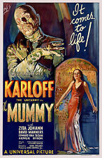 The Mummy Boris Karloff Horror Film Vintage Cinema Movie Poster Print Picture A4
