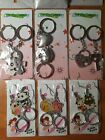A set of 6 Assorted key chains brand new condition
