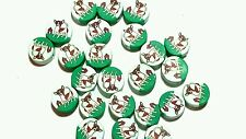 50 Fimo Polymer Clay Round Coin Flat Chihuahua Dog Beads