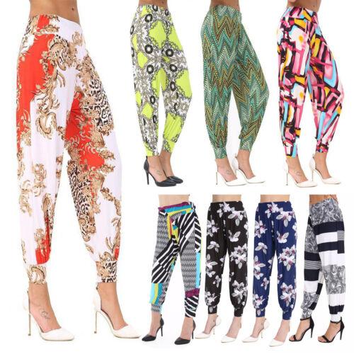 Womens Ali Baba Harem Trousers Pants Leggings Ladies Baggy Aladdin Boho Hippy Bz