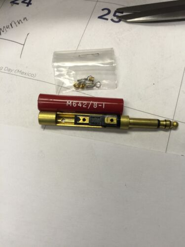 SWITCHCRAFT M642//8-1 TRS MIL-SPEC PLUGS 1 PAIR 0.206 SLEEVE DIA