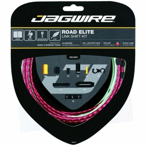Jagwire Road bike Elite link Shift /& Brake cable kit RCK753 RCK703 Red colour