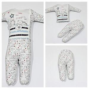 Neu-Babykleidung-2-teilig-Oberteil-Strampelhose-Gr-56