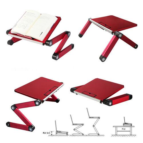 FLEXIBLE FOLDING ADJUSTABLE STAND DESK for Laptop Notebook iPad Tab BLACK