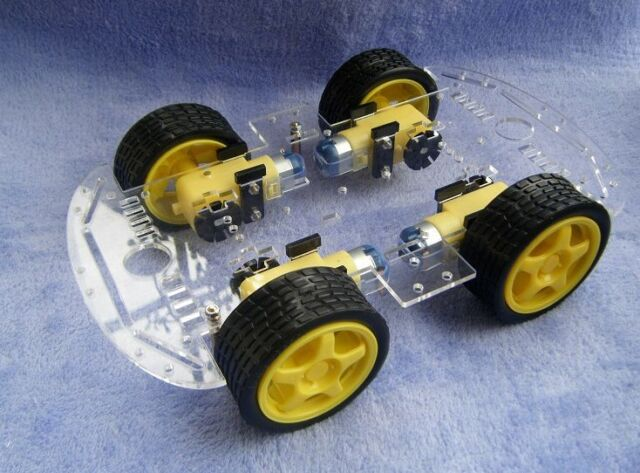 4WD Robot Smart Car Chassis Kits car with Speed Encoder DC for Arduino Robot car