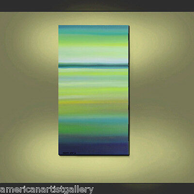 SEASCAPE ORIGINAL Painting Large 48x24 Modern Art  Ready to Hang by Thomas John