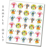 Team Umizoomi Personalized Stickers Birthday Party Favors Tags Decoration