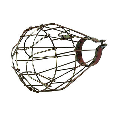 Retro Brass Wire Bulb Cage Clamp On Lamp Guard Industrial Pendant Light Trouble
