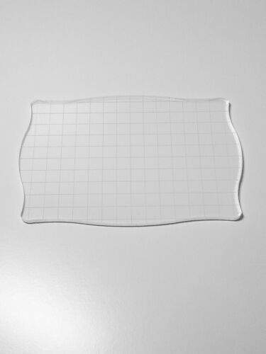 MANY SIZES Acrylic Lightweight clear Grid stamping block