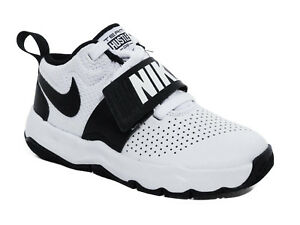 Dettagli su Nike Team Hustle D 9 (GS) Scarpe da Basket Bambino Sneakers WhiteBlack Nero Boy