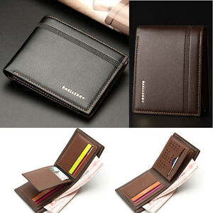 Mens-Luxury-Soft-Quality-Leather-Wallet-Credit-Card-Holder-Purse-Brown-NEW