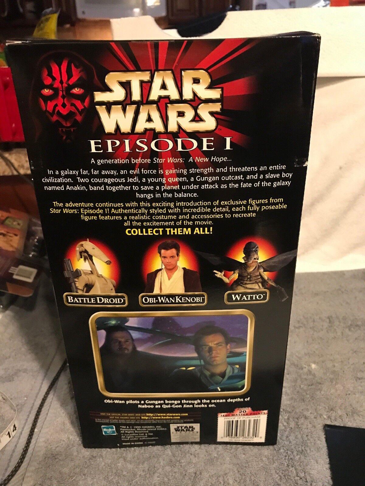 Star Wars Episode 1 Obi-Wan-Kenobi 12  Figure Figure Figure Hasbro 1999 With Plastic Case a8f6af