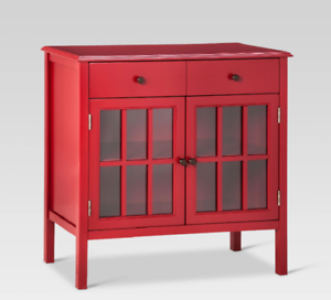 RED 50760879 THRESHOLD WINDHAM 2 DOOR ACCENT BUFFET CABINET W// SHELVES