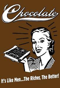 Chocolat-It-039-S-comme-Man-Panneau-Metallique-Plaque-Voute-Etain-Signer-20-X-30-CM