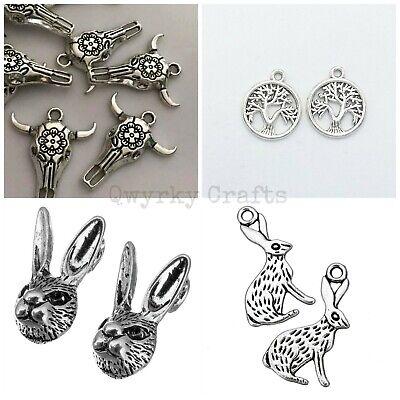 10//30Pcs Tibetan Silver Dreamcatcher Necklace Pendant Charms Connectors #74
