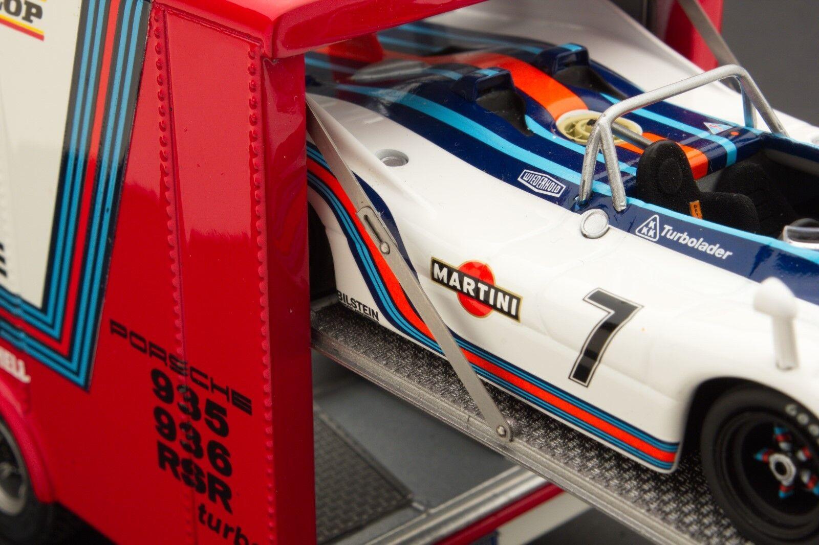 Exoto Martini Porsche Equipe de Course   500 km Imola Ensemble Cadeau   1 43