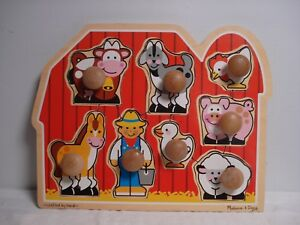 Details About Farm Friends Jumbo Knob Wood Puzzle Melissa And Doug 3391 Fresh Start